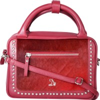 dezerae Women Pink Leatherette Sling Bag
