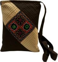 Minky's Decor Brown, White Sling Bag