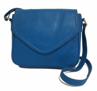 Gripp Women Blue Genuine Leather Sling Bag