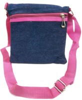 Shopoholics Women Blue Denim Sling Bag