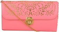 NxtGen Girls Pink Leatherette Sling Bag
