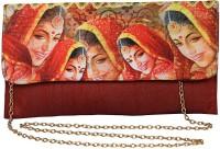 Decot Paradise Women Maroon Silk Sling Bag
