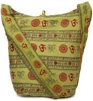 Kraftrush Women Yellow Cotton Sling Bag
