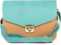 Rysha Women Brown, Green PU Sling Bag
