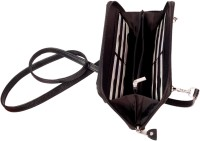Y Store Women Black Genuine Leather Sling Bag