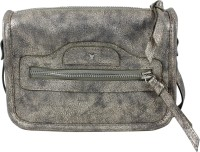 Bulchee Women Gold Leatherette Sling Bag