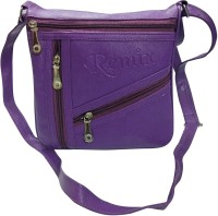 Shopoholics Women Purple Genuine Leather Sling Bag