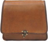 Pranjals House Women Brown Leatherette Messenger Bag