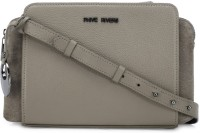 Phive Rivers Women Grey Genuine Leather Sling Bag