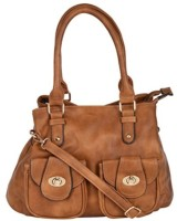 Sandy Winds Women Brown Leatherette Hand-held Bag
