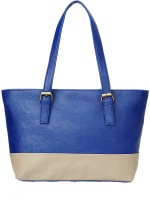 Creative India Exports Women Beige, Blue Polyester Tote