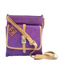 Fashion Knockout Women Purple Leatherette Sling Bag