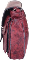 NxtGen Girls Red Leatherette Sling Bag