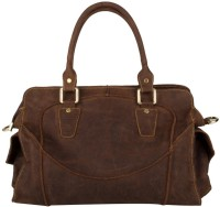 pingooz Women Brown Genuine Leather Tote