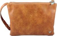 Bulchee Women Orange Leatherette Sling Bag