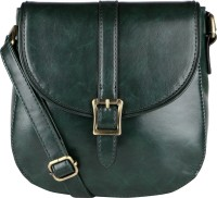 Lino Perros Women Green Leatherette Sling Bag