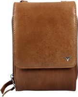 Bulchee Women Tan Genuine Leather Sling Bag