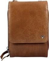 Bulchee Women Tan Genuine Leather Sling Bag