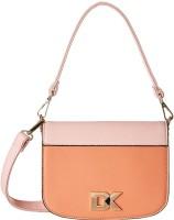 Diana Korr Women Orange, Pink PU Sling Bag