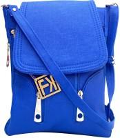 Fashion Knockout Women Blue Leatherette Sling Bag