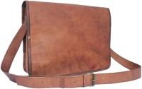 View CRAFAT 15 inch, 14 inch Laptop Messenger Bag(Brown) Laptop Accessories Price Online(CRAFAT)