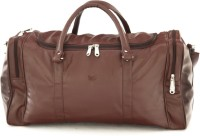 Mboss Faux leather Unisex Brown Single Small Travel Bag - Medium(Brown)
