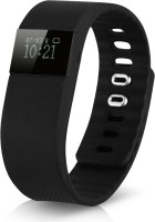 Syntrino TW64 Smart Bluetooth Fitness Band(Black Strap Regular)
