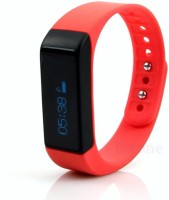 Fitmate Fitness Tracker Z1 Pedometer Calorie Tracking Bracelet Band(Red Strap Regular)