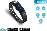 Equinox QBit Fitness Smart Band(Black Strap, Size : Regular)