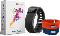 fbandz fb-tw64-2 Fitness Smart Band(Orange, Blue Strap, Size : Regular)