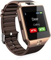 888 DZ09_08 phone Smartwatch(Brown Strap Regular)