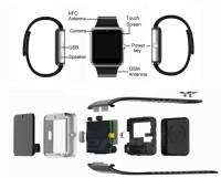 WOKIT WKT GT08-235 phone Smartwatch(Black Strap, Regular)