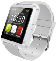 Aomax Bluetooth U8 Watch Smartwatch(White Strap, Regular)