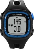 GARMIN Forerunner 15 (Blue Case) Smartwatch(Black Strap, Large)