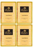 Aster Luxury Saffron Bathing Bar 125g - Pack of 4(500 g, Pack of 4)