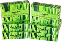 Vaadi Herbals Enticing Lemongrass Scrub Soap - Pack of 6(75 g, Pack of 6)