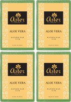 Aster Luxury Aloe Vera Bathing Bar 125g - Pack of 4(500 g, Pack of 4)