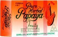 Pure Papaya Herbal Fruity 4 IN 1 Skin Whitening/Skin Fairness Soap(135 g)