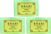 Rockside Khadi Musk Herbal Soap(375 g, Pack of 3) - Price 52 68 % Off