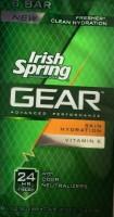 Irish Spring Gear Deodorant Soap Skin Hydration Bars (Pack of 4)(105.3 g, Pack of 4)