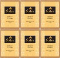 Aster Luxury Honey Vanilla Handmade Bathing Bar - Set of 6(750 g, Pack of 6)
