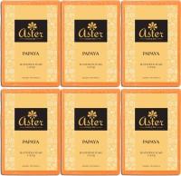 Aster Luxury Papaya Bathing Soap - Pack of 6(750 g, Pack of 6)