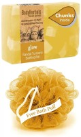BodyHerbals Glow Soap, Hand Made Sandal Turmeric Bathing Bar with Natural Chunks(100 g)