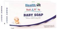 HEALTHVIT BATH & BODY BABY SOAP (OLIVE, VITAMIN E & ALMOND OIL) 75G PACK OF 2(150 G) - PRICE 70 30 % OFF   - EDUCRATSWEB.COM