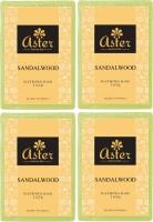 Aster Luxury Handmade Sandalwood Soap 125g - Pack of 4(500 g, Pack of 4)