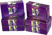 Vaadi Herbals Herbals Heavenly Lavender Soap with Rosemary Extract - Pack of 5(75 g, Pack of 6)