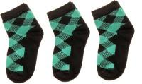 Neska Moda Boys & Girls Checkered Ankle Length Socks(Pack of 3)