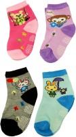 Neska Moda Baby Boys & Baby Girls Animal Print Ankle Length(Pack of 4)