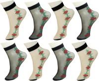 Neska Moda Girls Embriodered Ankle Length(Pack of 8)