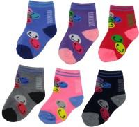 Neska Moda Baby Boys & Baby Girls Solid Ankle Length Socks(Pack of 6)